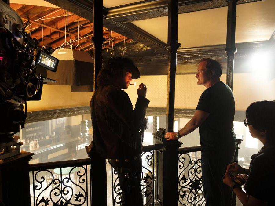 Quentin Tarantino sul set del suo nuovo film «C'era una volta a Hollywood»