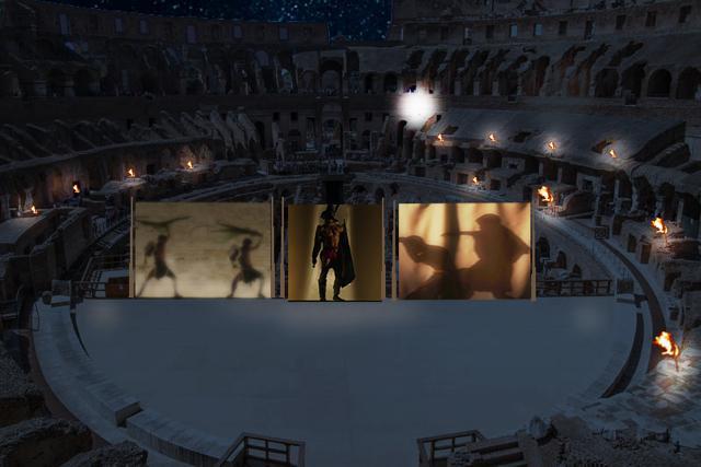 La luna sul Colosseo illumina i sogni del gladiatore