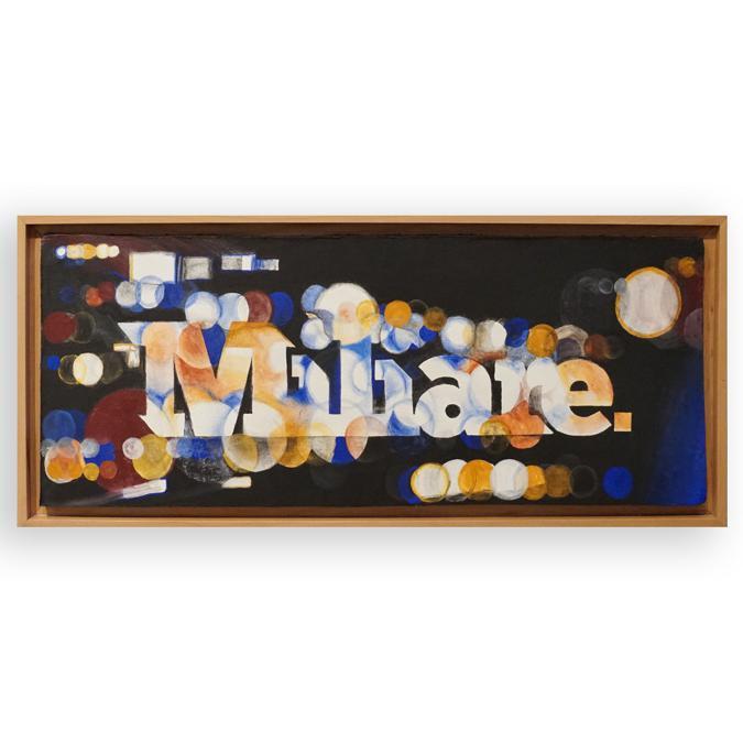 Miliare. Affresco 86x36 cm  -  2019