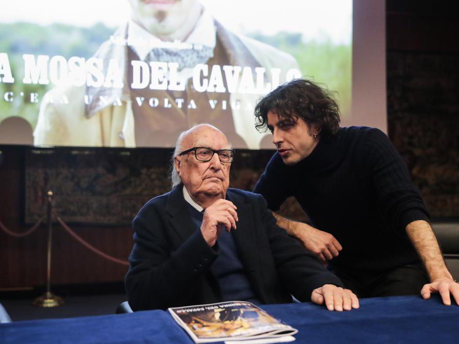 2018 Roma. Andrea Camilleri con Michele Riondino
