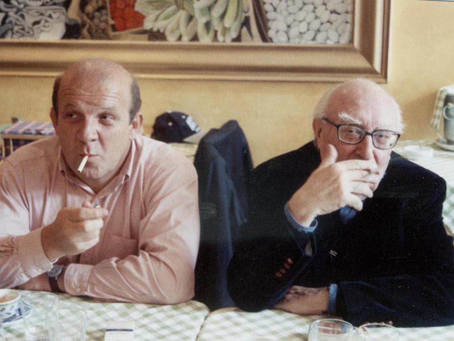 2009. Il produttore Carlo Degli  Esposti con Andrea Camilleri (Fotogramma)