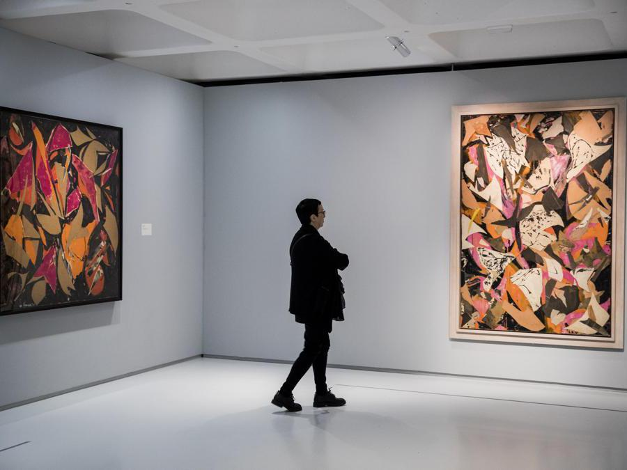 Lee Krasner: Living Colour exhibition at Barbican Art Gallery on May 29, 2019 in London, England. The exhibition is on view 30 May - 1 September 2019. (Photo by Tristan Fewings/Getty Images for Barbican Art Gallery)