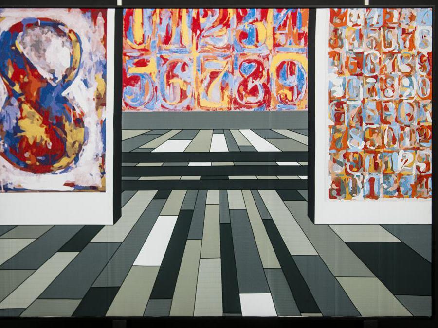 TRIBUTE TO JASPER JOHNS, 2017, Arazzo, 105 x 147 x 5,5 cm
