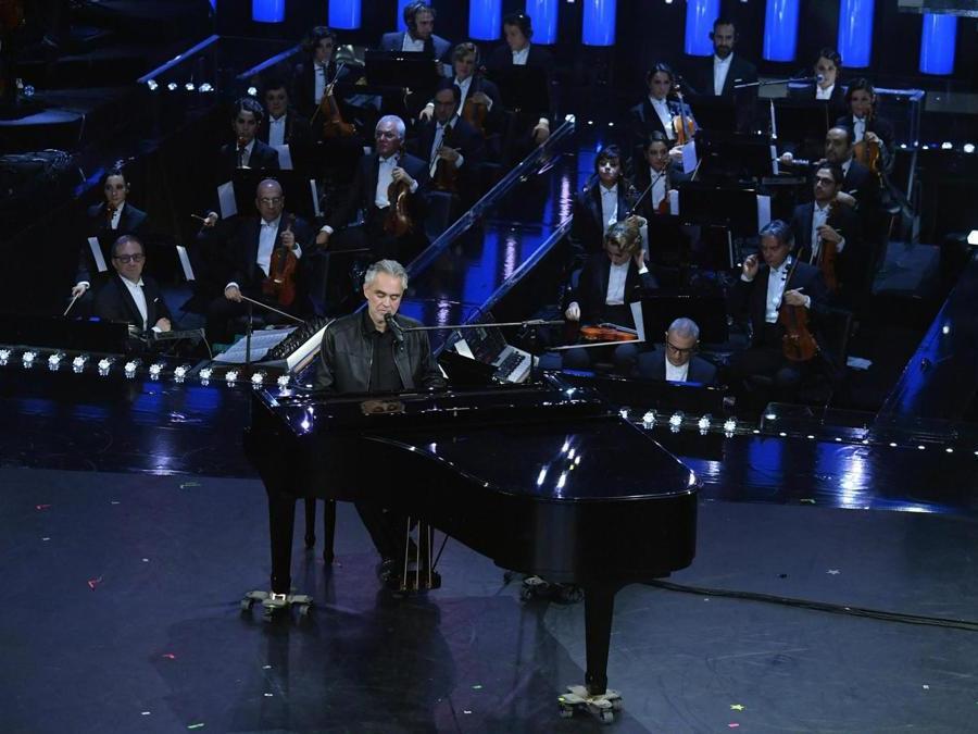 Andrea Bocelli.  (Ansa / Ettore Ferrari)