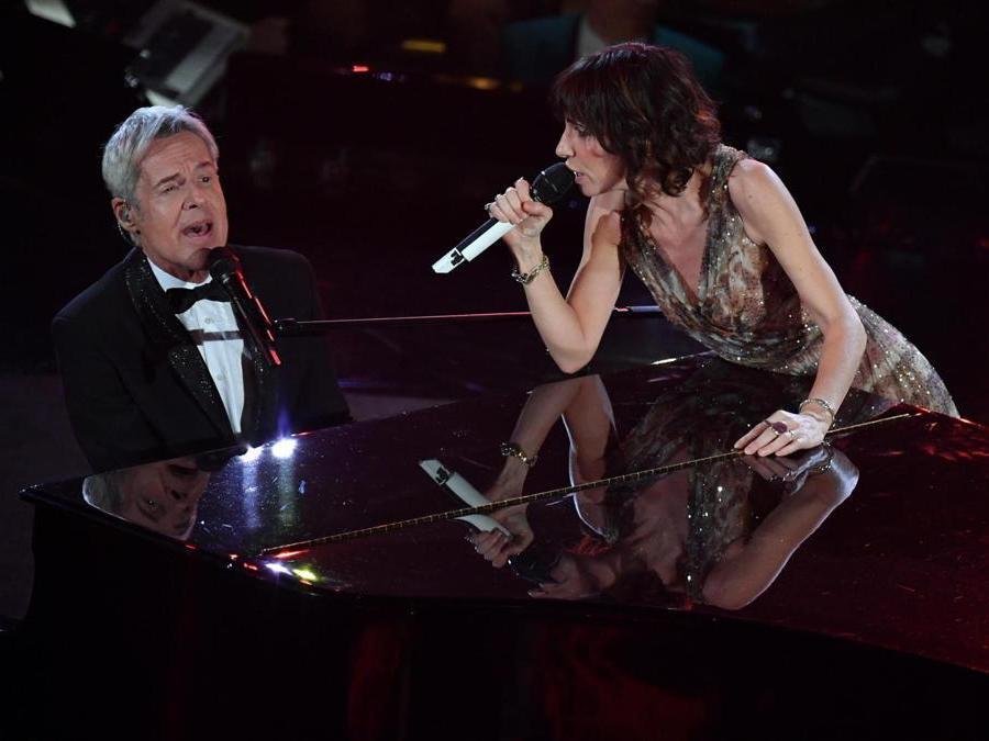 Claudio Baglioni  con  Giorgia.  (Ansa / Ettore Ferrari)