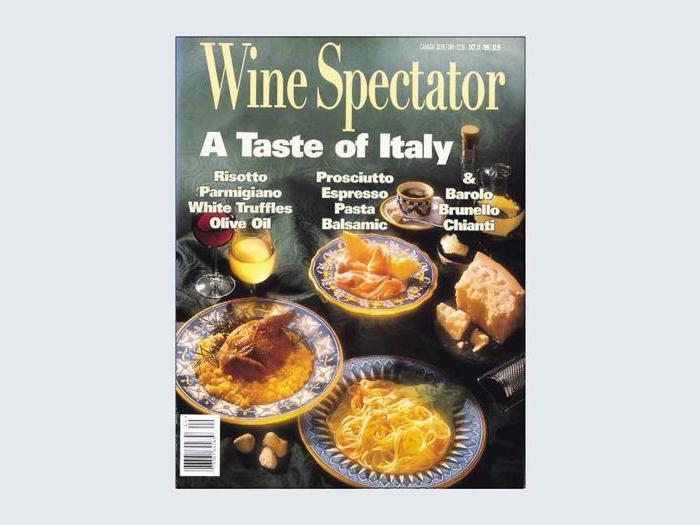 Le copertine di Wine Spectator