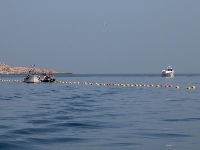 La posa delle reti da tonno a Favignana