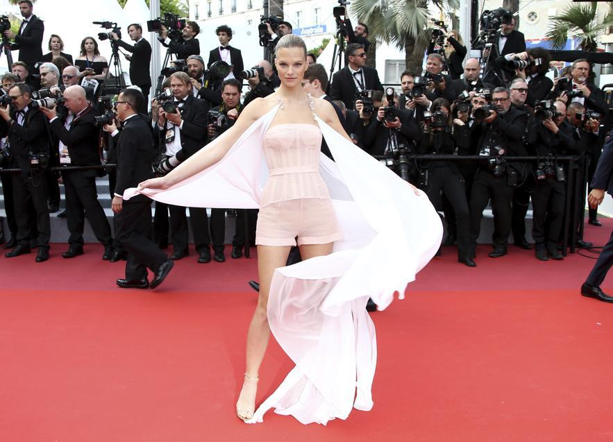 Nadine Leopold in Nicholas Oakwell couture