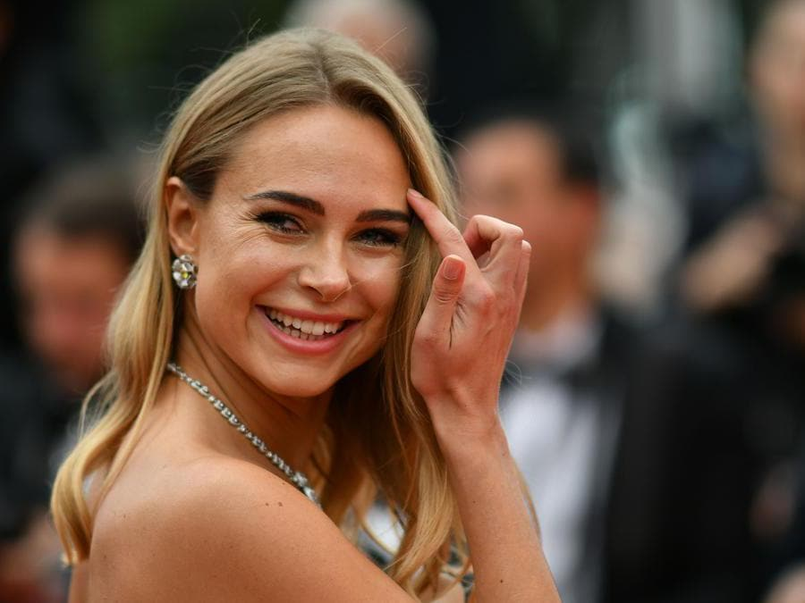 La stilista  Kimberley Garner. (Photo by Alberto Pizzoli / AFP)