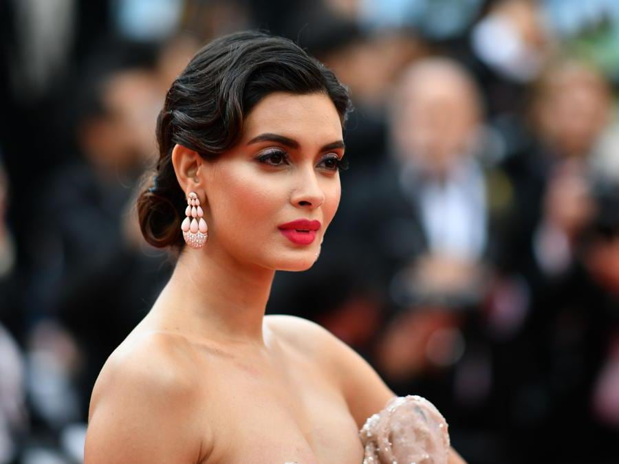 La modella e attrice indiana,  Diana Penty. (Photo by Alberto Pizzoli / AFP)