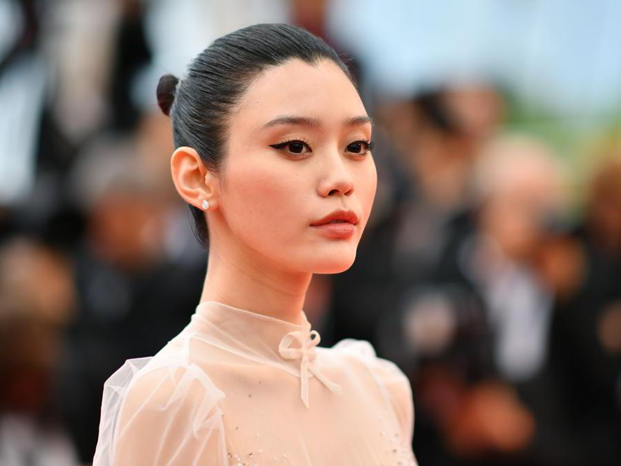 La modella cinese,  Ming Xi.(Photo by Alberto Pizzoli / AFP)