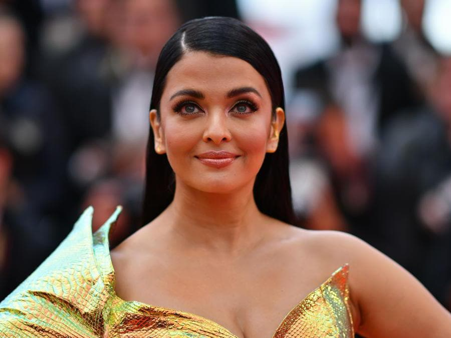 L'attrice indiana, Aishwarya Rai Bachchan. (Photo by Alberto Pizzoli / AFP)