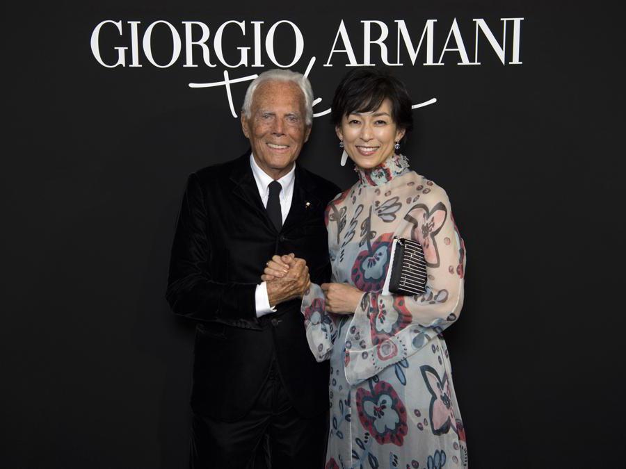 Giorgio Armani con Honami Suzuki (credit SGP)