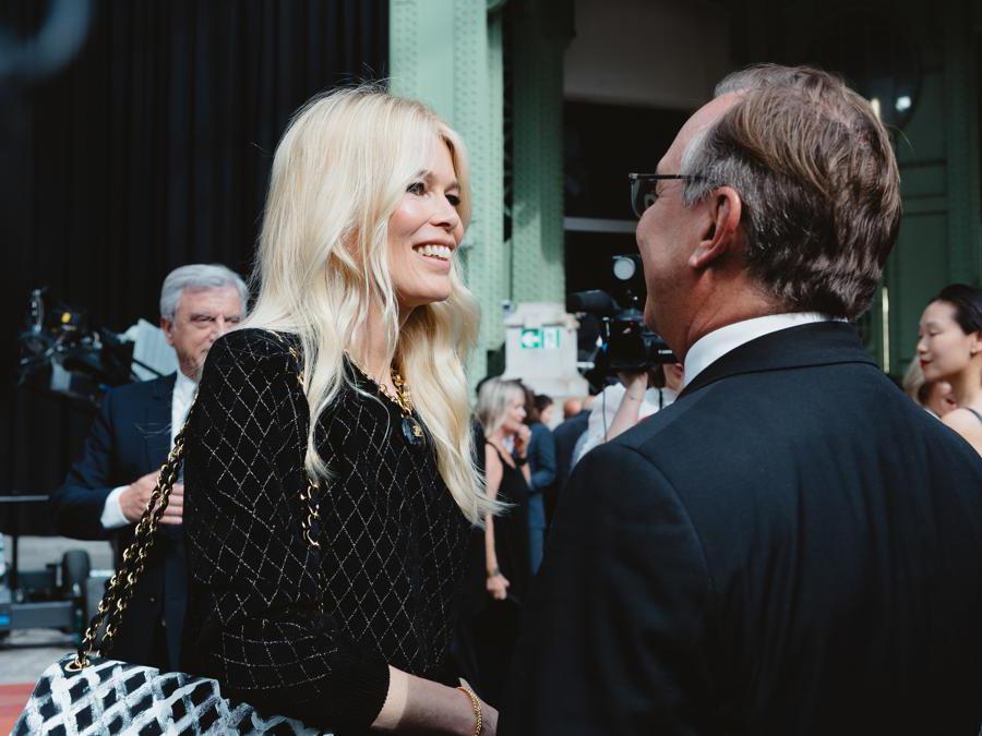 Claudia Schiffer e Bruno Pavlvosky (foto Alix Marnat )