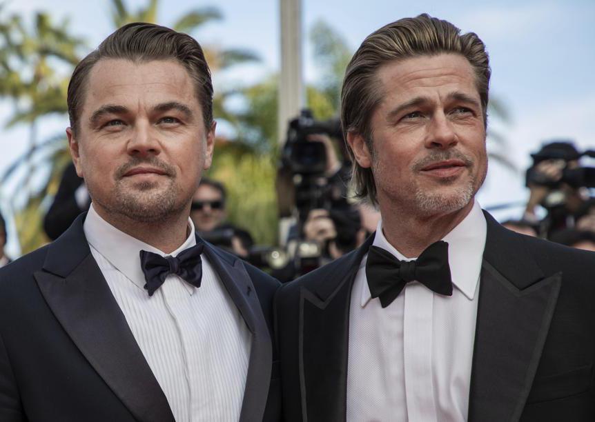 """L'ottava serata del festival ha visto sfilare sul tappeto rosso della Croisette due star di Hollywood, Leonardo DiCaprio e Brad Pitt, protagonisti del nuovo film di Quentin Tarantino """"C'era una volta a Hollywood"""""""
