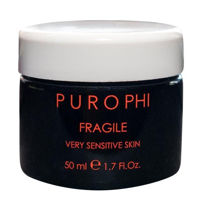 Fragile di Purophi , una crema pensata per le pelli fragili, delicate, che tendono ad arrossarsi, contiene un mix di attivi che agiscono come cortison-like dando un immediato sollievo.