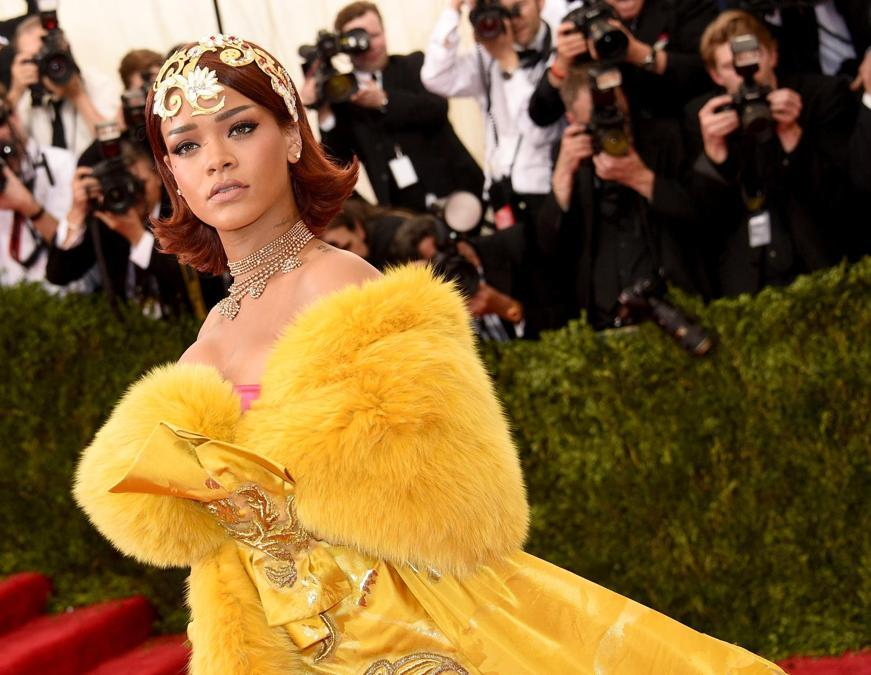 Rihanna  al Met Ball 2015. (Larry Busacca/Getty Images/AFP)