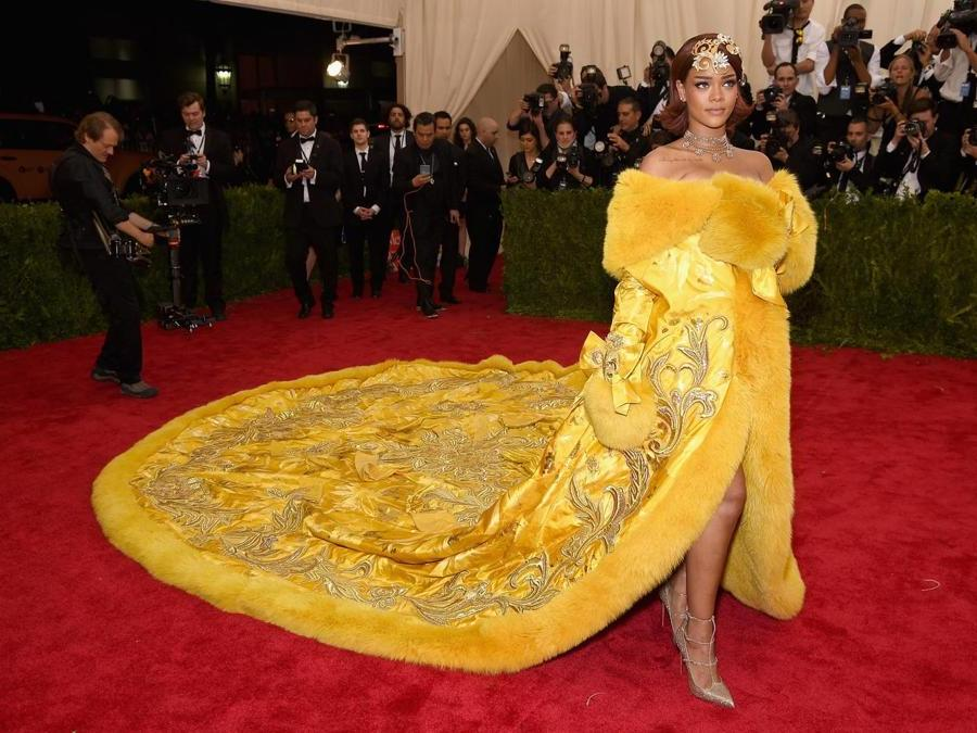 Rihanna  al Met Ball 2015. (Dimitrios Kambouris/Getty Images/AFP)