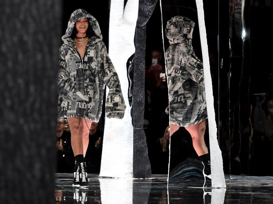 Fenty PUMA by Rihanna  2016. (Photo by Timothy A. CLARY / AFP)