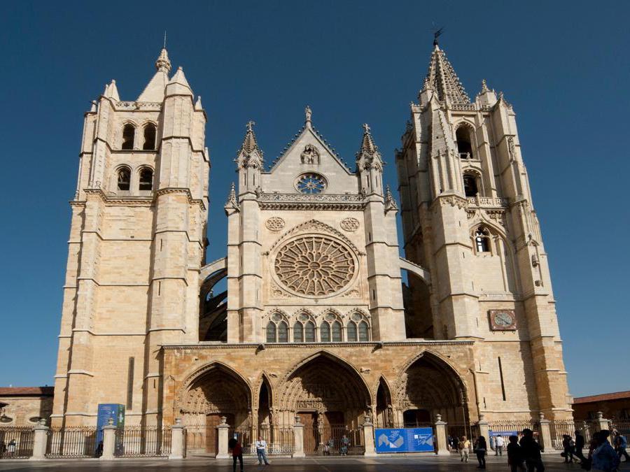 La Cattedrale di Santa Maria de Regla a León - Spagna (Marka)