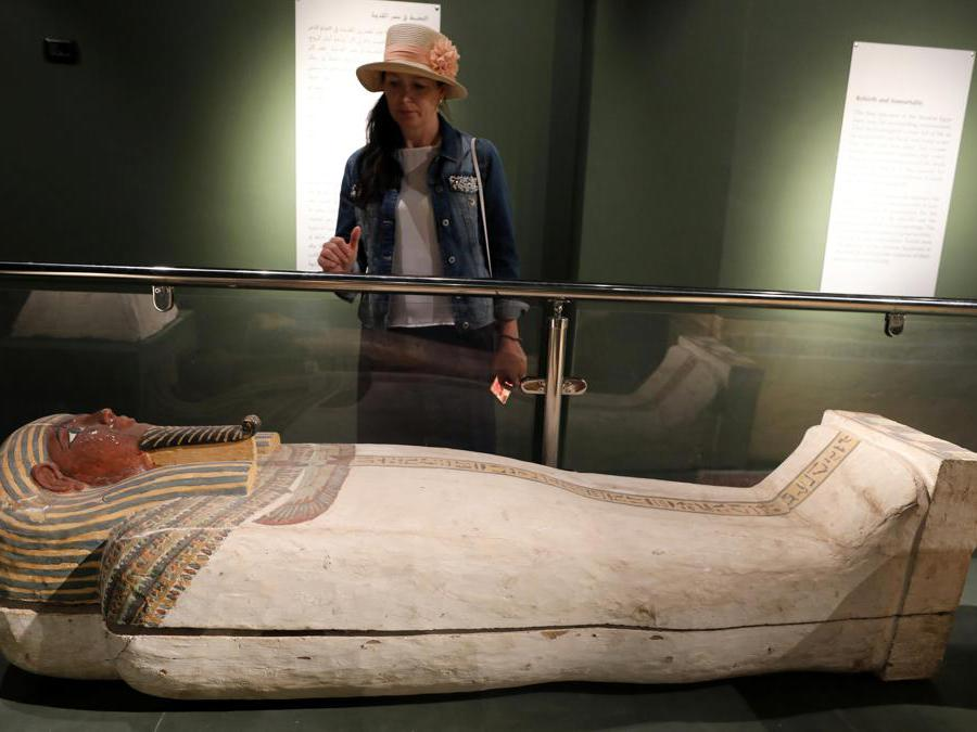 Sarcofago faraonico al Sohag National Museum (Reuters/Mohamed Abd El Ghany)