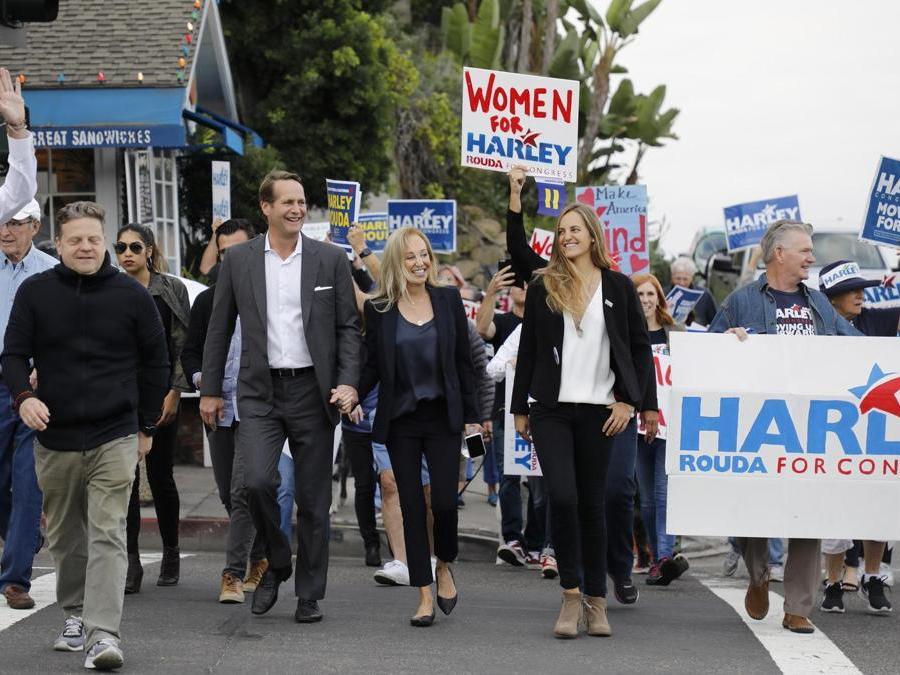 Il Candidato per il Congresso democratico per la California Harley Rouda . (Barbara Davidson/Getty Images/AFP)