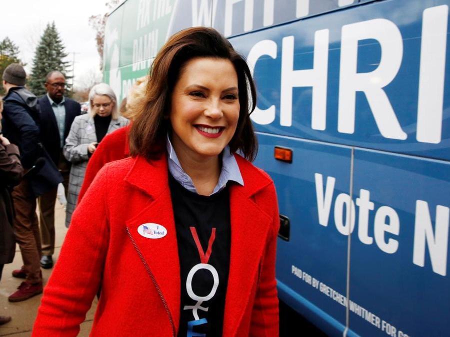 La candidata Democratica del Michigan  Gretchen Whitmer. (REUTERS/Jeff Kowalsky)