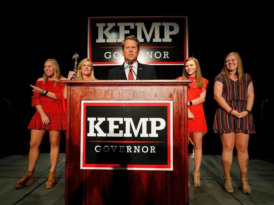 Brian Kemp, Partito Repubblicano (Kevin C. Cox/Getty Images/AFP)