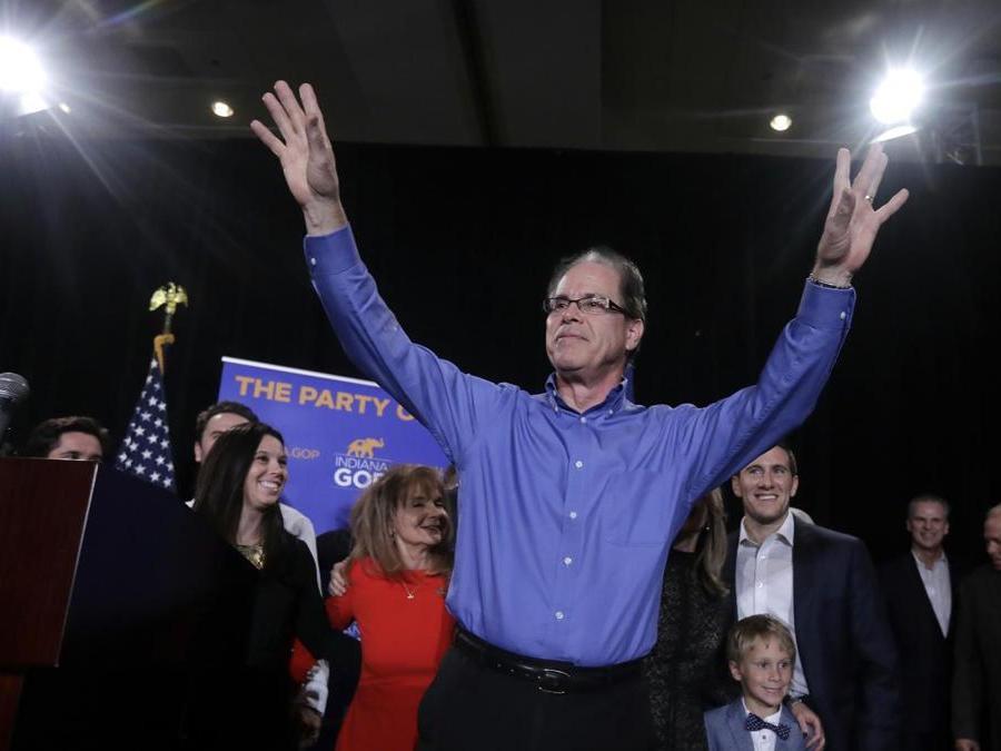 Mike Braun, Partito Repubblicano   (AP Photo/Darron Cummings)