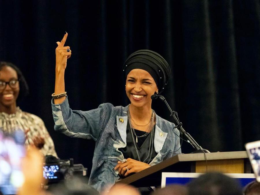 Ilhan Omar, Partito Democratico  (Photo by Kerem Yucel / AFP)