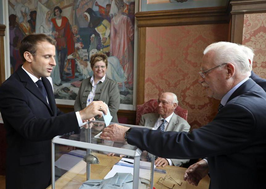 Il presidente francese Emmanuel Macron (Ludovic Marin/Ap)