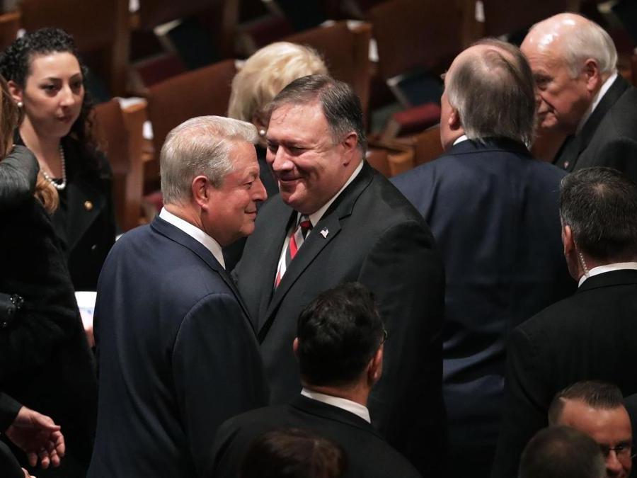 Il Vice PresidenteAl Goree il Segretario di Stato Mike Pompeo Chip Somodevilla/Getty Images/AFP