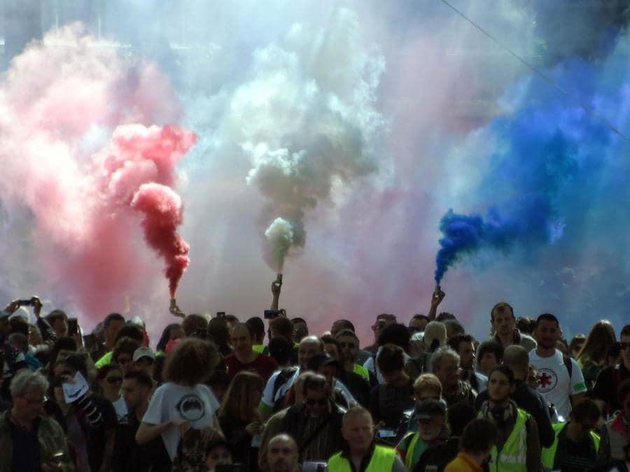 Manifestzione a Tolosa in Francia. (Photo by PASCAL PAVANI / AFP)