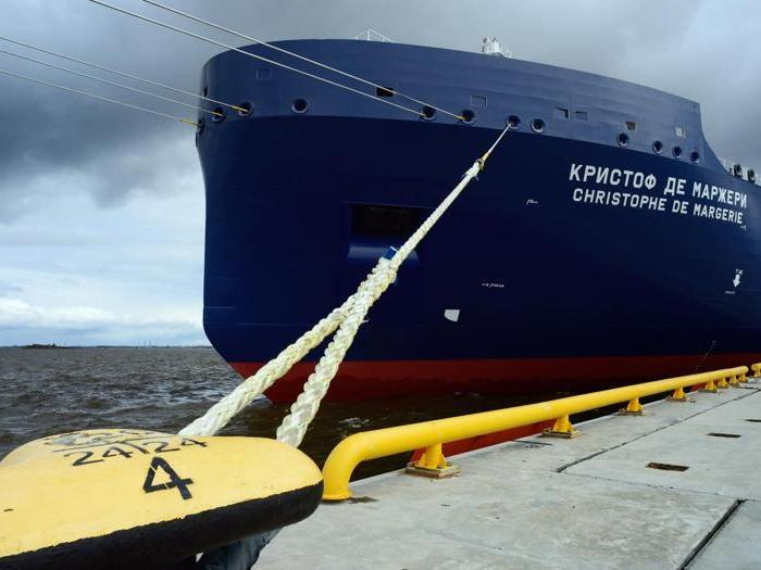 """L'inaugurazione della nave cisterna """"Christophe de Margerie"""" lungo la Via marittima del Nord"""
