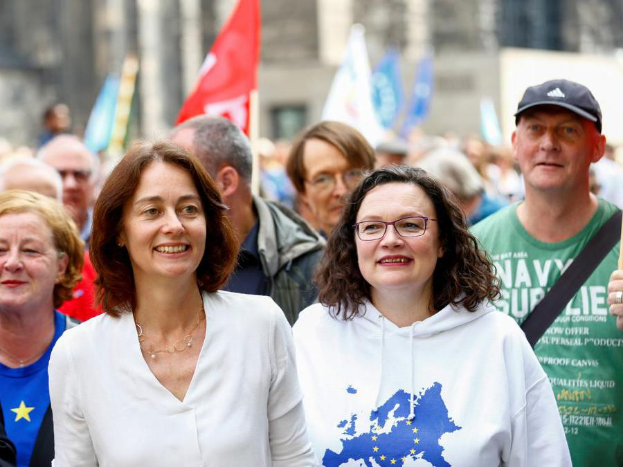 Colonia, Katarina Barley e Andrea Nahles  (Reuters)