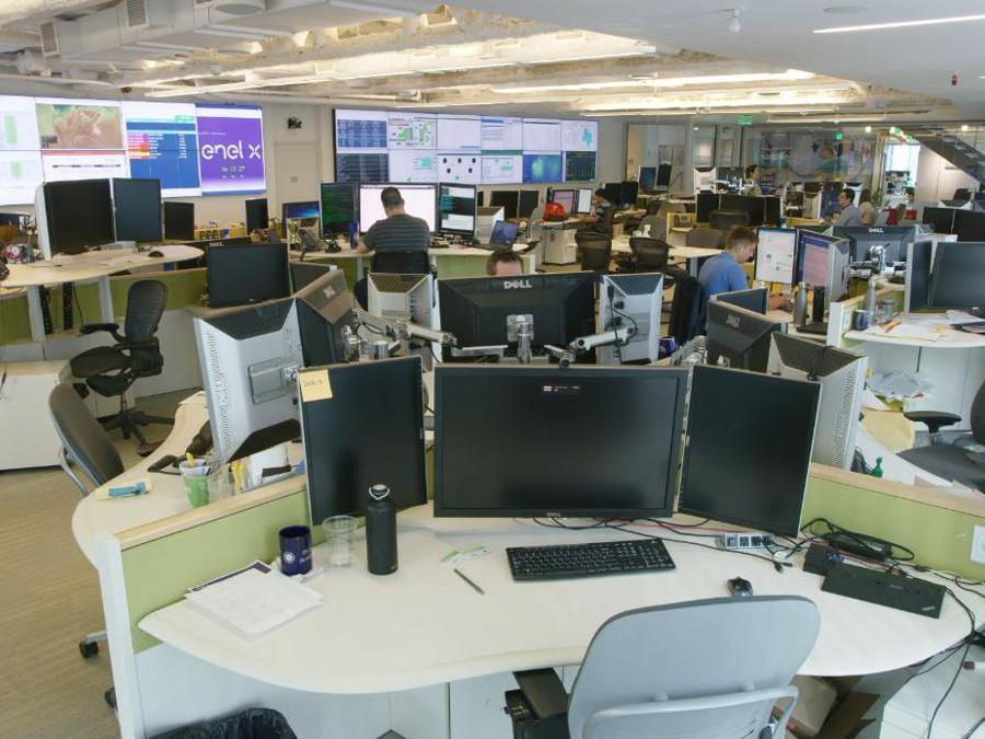 Control room Enel X North America a Boston
