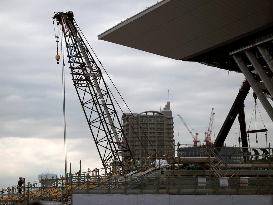 Il cantiere del Tokyo Aquatics Center. (Reuters / Issei Kato)
