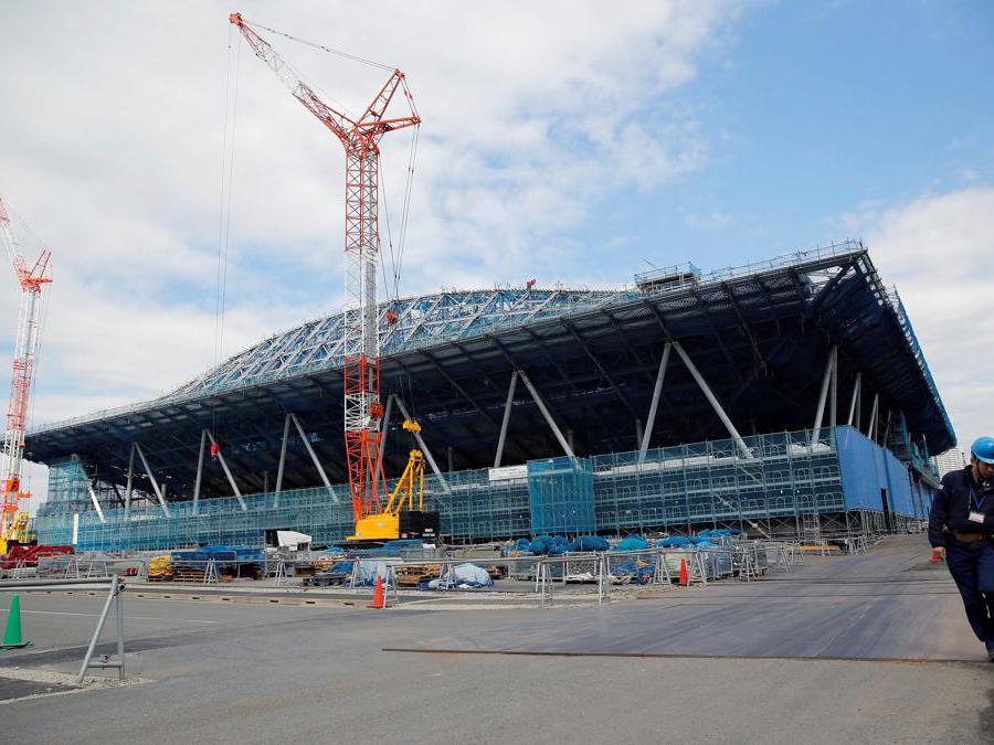 Tokyo 2020. Il cantiere dell'Ariake Gymnastics Centre. (Reuters / Issei Kato)