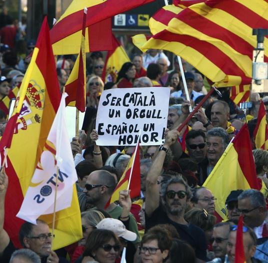 «Orgogliosi di essere catalani, onorati di essere spagnoli»