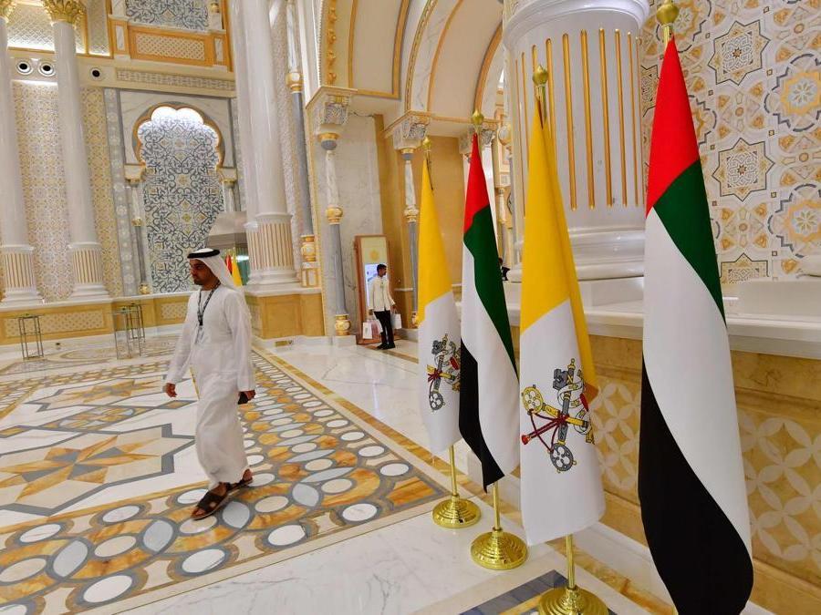 Il palazzo Presidenziale di  Abu Dhabi. (Photo by Giuseppe CACACE / AFP)