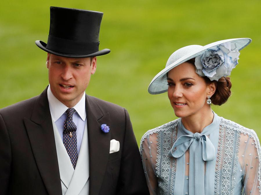 Il principe William, con la moglie Kate Middleton. (REUTERS