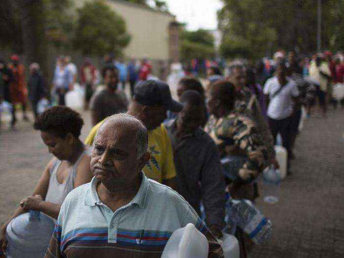 Sudafrica, a Città del Capo la peggior siccità da un secolo