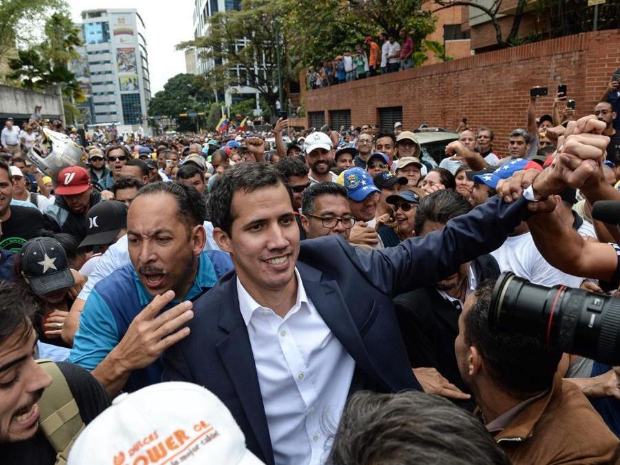 Juan Guaido (Photo by Federico PARRA / AFP)