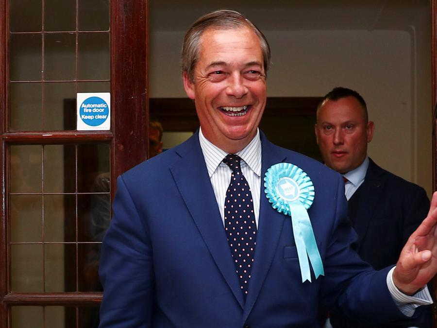 Nigel Farage- Brexit Party  (Reuters/lHannah McKay)