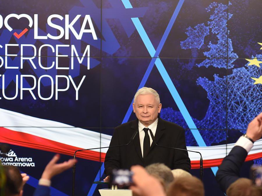 Jaroslaw Kaczynski - PiS (Janek Skarzynski/Afp)