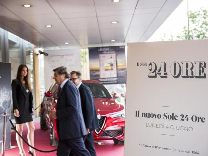 La presentazione del nuovo Sole 24 Ore con Alfa Romeo
