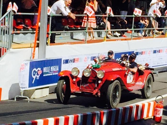 Mille Miglia 2017, vincono Andrea Vesco e Andrea Guerini su Alfa Romeo 6C 1750 del 1931