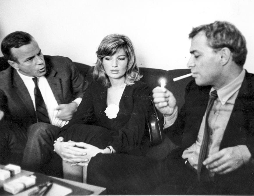 Giorgio Albertazzi, Monica Vitti, Franco Zeffirelli nel 1964 (Marka)