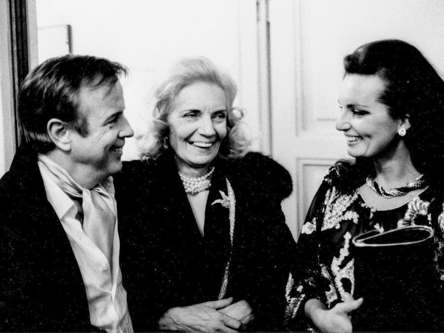 Franco Zeffirelli con la moglie e la nipote anni 60 (Marka)
