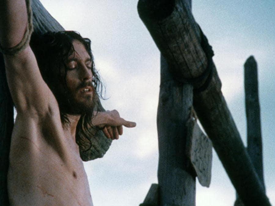 L'attore Robert Powell  nel film di Franco Zeffirelli «Gesù di Nazareth» del 1977 (Afp)